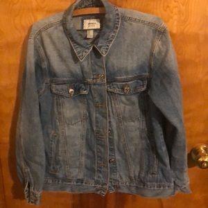 Distressed jeans jacket